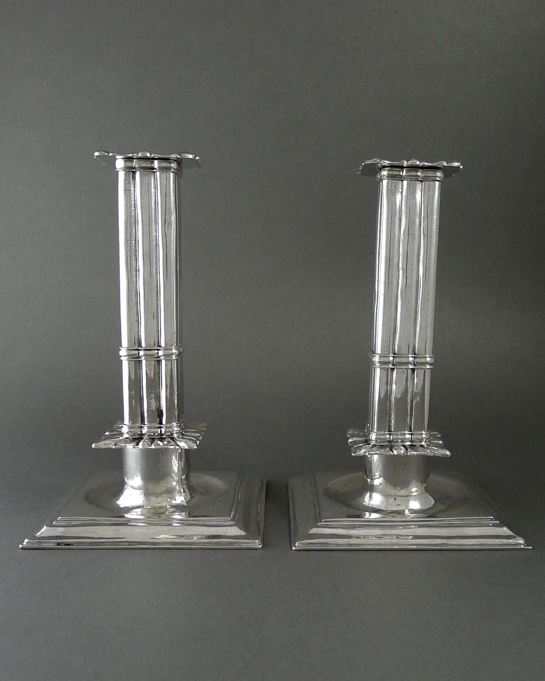 zilveren kandelaars antiek