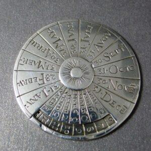 Zilveren eeuwig durende kalender