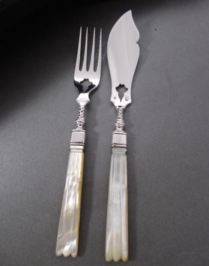 12 zilveren viscouverts