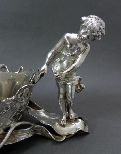 Zilveren jardinière