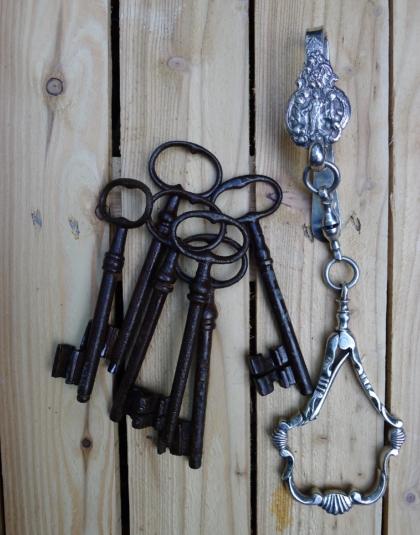 Zilveren sleutelhaak