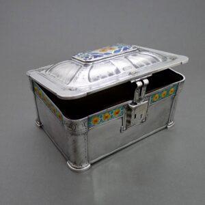 Zilveren juwelen doos