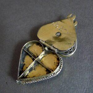 Verguld zilveren pomander