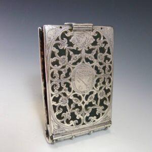 Zilveren boekband vroeg 17e eeuw