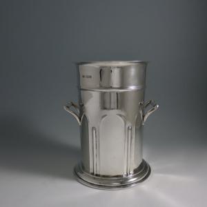 Zilveren wijnkoeler
